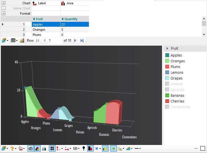 Custom 3D Spline Area Chart