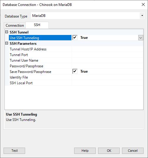 Database Connection MariaDB SSH