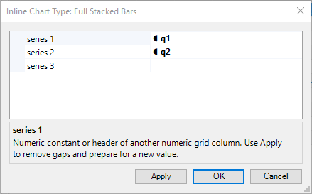 Inline Stacked Bars Parameters