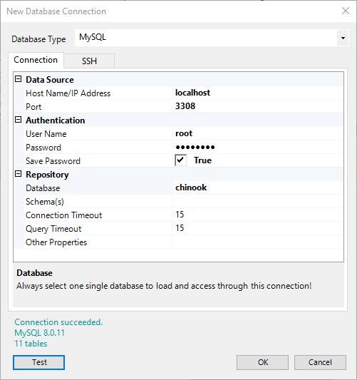 MySQL-Chinook-Connection