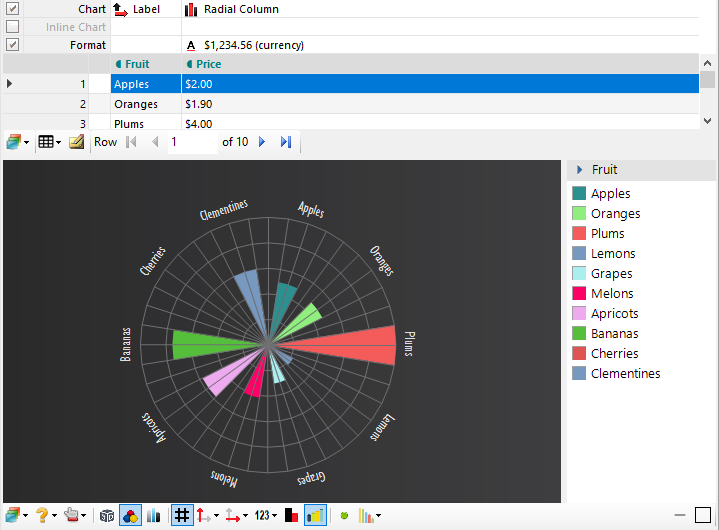 Radial Column Chart Demo