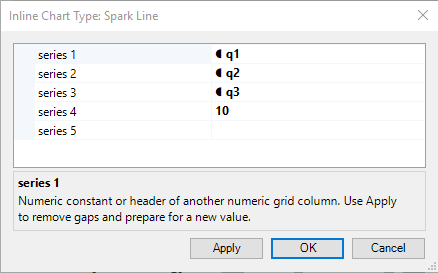 Spark Line Parameters